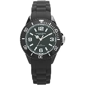 Cannibal Kid's Quartz Watch with Black Dial Analogue Display and Black Silicone Strap CK215-03