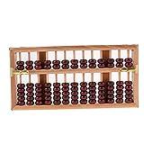 sharprepublic Vintage Outil de Calcul à 13 Chiffres Chinois Abacus en Bois Comptage d'Addition et Soustraction - Bois