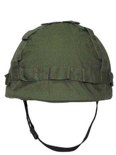 US Helm mit Stoffbezug oliv zu Militär a