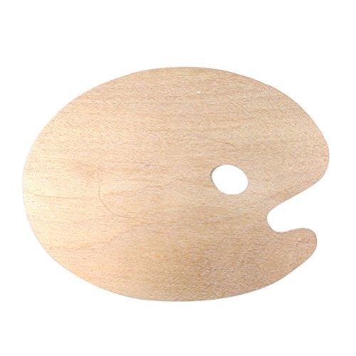 ROSENICE Mischpalette Holz Ovale Farbpalette mit Griffloch Malen Palette für Aquarell und Ölfarben