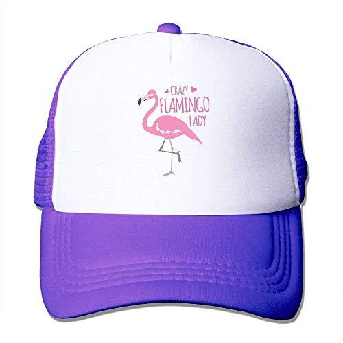 354dcf33750cb Rbfqfm Crazy Flamingo Lady Trucker Hat Unisex Adult Baseball Mesh Cap