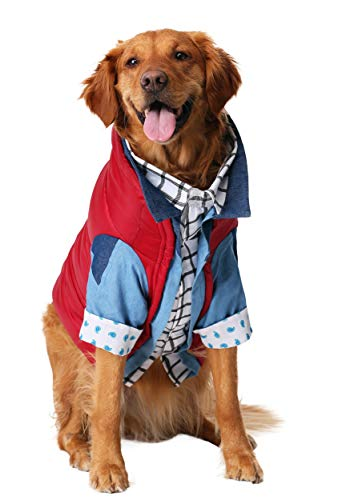 (Marty McFly Dog Fancy Dress Costume Back to The Future Medium)