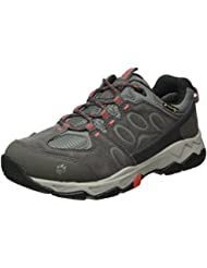 Jack Wolfskin Mtn Attack 5 Texapore W, Zapatos de Low Rise Senderismo Para Mujer, Gris (Hibiscus Red 2260), 43 EU