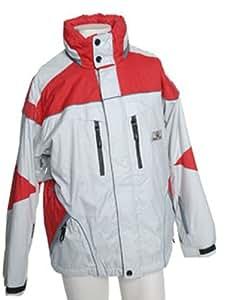 Maul megaTex veste matelassée de ski pour homme, extérieur avec recco lawinenrettungssystem 265DT gris/rouge) 50