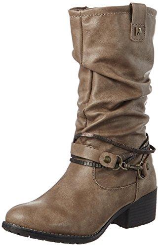 Bruno Banani Damen 253 544 Cowboy Stiefel, Grau (Stone), 40 EU (Boots Cowboy Womens)