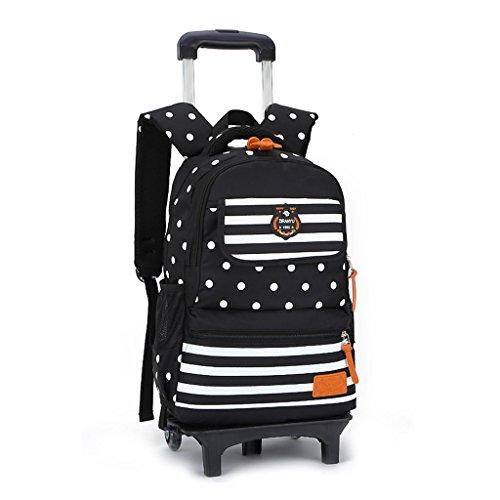 Durable Rolling Daypack Trolley Rucksack Schultasche Kinder Reisetaschen (2 Räder) ()
