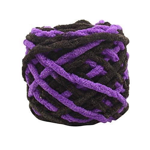 TianranRT Super Weich Glatt Natürlich Seide Wolle Garn Stricken Pullover Stricken Garn (G) (Chenille Bettdecke)