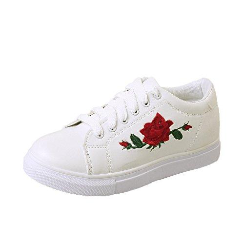Sneaker Damen,Damen Straps Sport Laufschuhe Stickerei Blumenschuhe,❤️Binggong Damen Stiefeletten