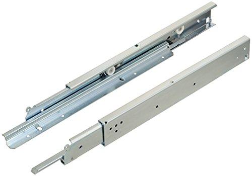 Schubkasten-Auszug Küche Rollenführung RDAS Vollauszug 1000 mm Schubladenschiene aufliegende Montage | Tragkraft 200 kg | Stahl verzinkt | 1 Paar - Schwerlast-Auszüge für Holz-Schubkästen & Schränke -