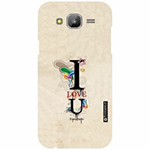 Printland Back Cover For Samsung Galaxy J5 - I Love You Designer Cases