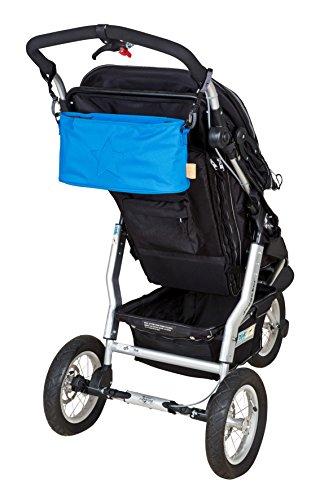 Lässig Casual Buggy Organizer Kinderwagenorganizer-/tasche mit Reißverschluss, Star, ebony - 3