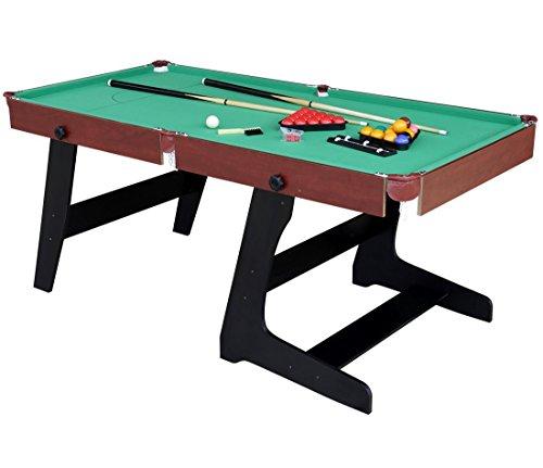 HLC 6 FT 188*97*13CM faltbarer Billardtisch Pool Snooker Tischspiel GRÜN