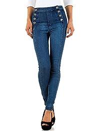 960dc1b73821 Schuhcity24 Damen Jeans Hose Jeanshose Damenjeans Destroyed High Waist  Hoher Bund Skinny Röhre…