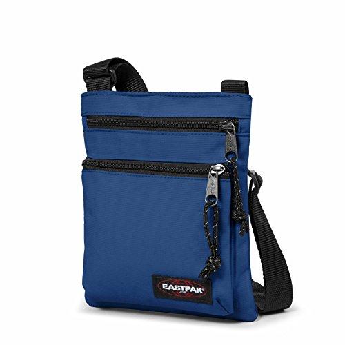 Eastpak, Unisex Umhängetaschen Rusher, 1.5 liters, Schwarz (Black), 23 x 18 x 2 cm Bonded Blue