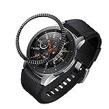 Neu!!!Bloodfin für Samsung Galaxy Watch 46mm/Gear S3 Frontier/Gear S3 Classic Schutzfolie Panzerglas,gehärtetes Glas Bildschirmschutzfolie [Anti-Kratzen] [Anti-Öl] (Schwarz (Batch Blume Lünette))