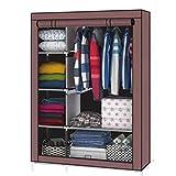 Anva iron Portable Foldable Multipurpose Closet, Wardrobe Storage Organizer with Shelves, 4.1 ft
