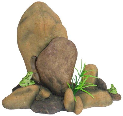Ellie-Bo Rock Formation 26 x 13 x 21.5cm Handpainted Polyresin Aquarium Ornament, EB-AQSY028 1