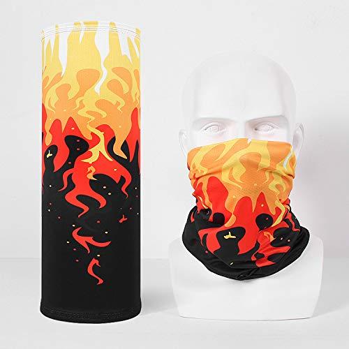 EDtara Geschenke für Jungen MännerGesichtsmaske Sturmhauben Masken für Herren Damen,Outdoor Männer Frauen Gesichtsmaske für Training Motorrad Schnelltrocknende Maske rote Flamme Hochwertiger Kragen