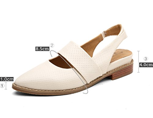 a8636a7535 HWF Scarpe donna Scarpe basse stile inglese femminile in pelle ...