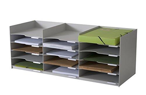 Paperflow 535.02 Briefkörbe, Ablagen, Stapelbar, Belegfächer, Zubehöre Sortierablage grau