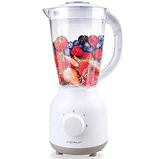 Aigostar Spin 30HLV - Standmixer Smoothie Maker Obst Mixer 350W, 1.5L, Geschwindigkeitswahlschalter und manueller Modus, BPA-frei, Weiß. EINWEGVERPACKUNG.