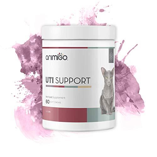 Animigo Harnwegsinfekt Unterstützung für Katzen | Blasenentzündung | Mit Cranberry, Grünem Tee und D-Mannose | Bei Erkrankungen der unteren Harnwege | 60 Soft Snacks -