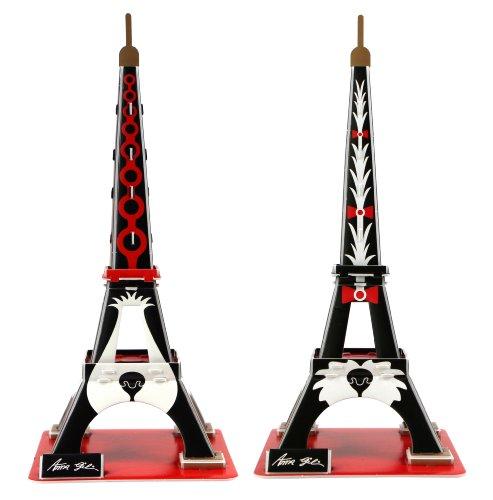 "Preisvergleich Produktbild World 3D-POP-Art-Motiv ""Eiffelturm mit Anna Insel Gili-Welpen (& Stecker-Buchse)"""