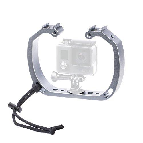 Sevenoak sk-gha6 aluminio vídeo jaula Rig Micro Película Película making Kit Estabilizador con zapata de soporte y correa para la muñeca para GoPro Hero3 Hero3 + Hero4 Hero5 Sony RX0 Cámaras de acción