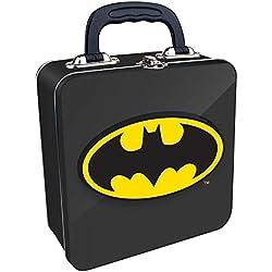 DC Comics- Caja Metal Porta Alimentos Batman, (Half Moon Bay TOTEBM04)