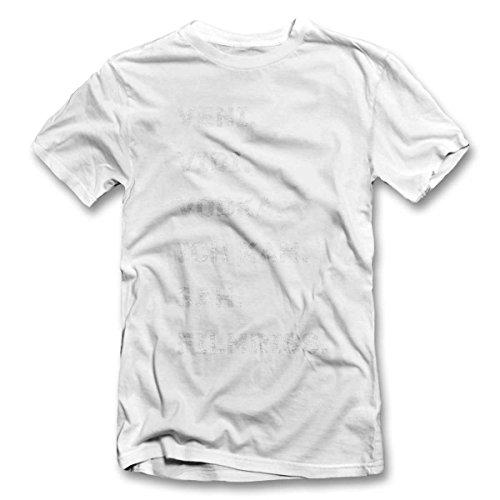 Veni Vidi Vodka Ich Kam Sah Filmriss T-Shirt S-XXL 12 Farben / Colours Weiß