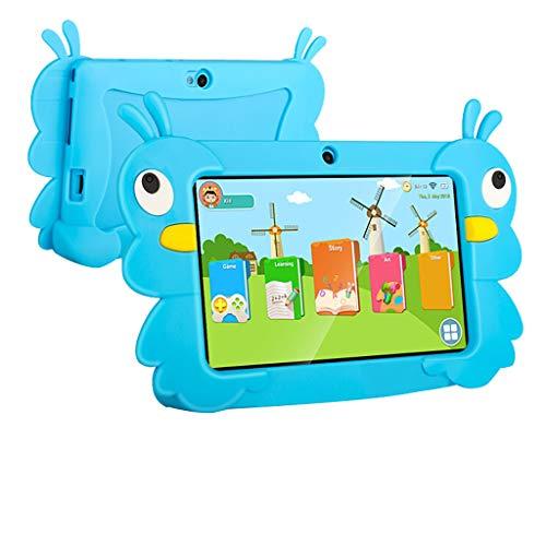 Fcostume Tablet-PC für Kinder 7 Zoll Android 6.0 16 GB IPS Display 1GB/16 GB Babypad PC mit Bluetooth WiFi Bundle Spiele Google Play Store, Kids-Proof Case Quad CoreProzessor mit Dual Kamera (Blau)