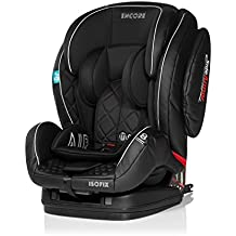 MS 846 Encore Fix Luxe color negro. Silla de auto con isofix grupo 1, 2, 3.