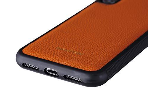 Infistein Hülle für iPhone 7 Hülle Anti-Rutsch Schutzhülle Leder Kalbsleder Business Hochwertig Geschenk (iPhone 8 / iPhone 7, Orange)
