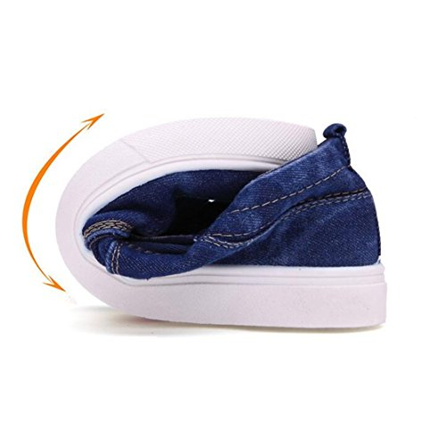 Mann-Art Niedrig Oberseite Turnschuh beiläufige Loafer Ebene Segeltuch Schuhe Bootsschuhe Espadrilles Sneaker Dunkelblau