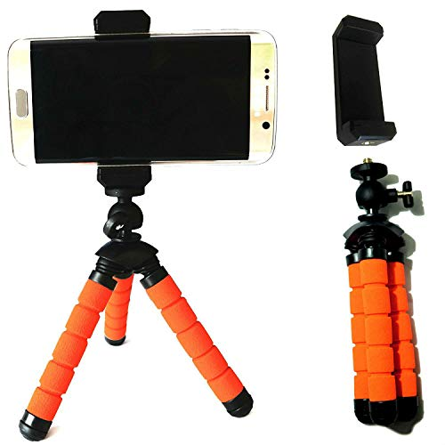 Eurosell 13cm Mini Premium Stativ Video / Foto Tisch Halterung für Android Smartphone / Apple iPhone 4 5 6 7 S PLUS / Samsung Galaxy S 4 5 6 7 8