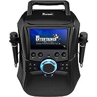 Mr Entertainer Megabox Portable Bluetooth Karaoke Machine with Screen CDG/DVD/MP3G/USB/RECORD. Macchina per karaoke con schermo, 200 brani e 2 microfoni