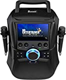 Mr Entertainer Megabox Portable Bluetooth Karaoke Machine with Screen. CDG/DVD/MP3G/USB/RECORD. Karaoke-Maschine mit Bildschirm, 2 Mikrofonen und 200 Liedern