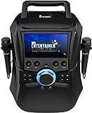 Mr Entertainer Megabox Portable Bluetooth Karaoke Machine with Screen. CDG/DVD/MP3G/USB/RECORD. Karaoke-Maschine mit Bildschirm, 2 Mikrofonen und 200 Liedern