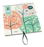 Busy B Familienkalender 2017, Baumhausdesign, mit Aufbewahrungsfach jeden Monat. Ein Steckfach jeden Monat für Briefe, Einladungen, Karten und wichtige Notizen Platz für bis zu fünf Terminpläne