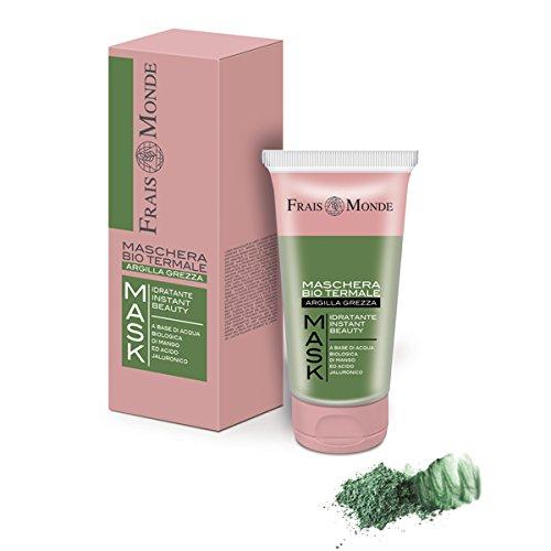 Frais monde maschera bio termale idratante con argilla verde ed con acqua floreale bio di mango ed acido ialuronico 75 ml