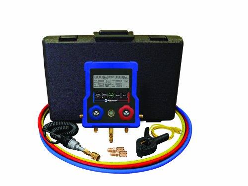 Mastercool 99661-eu collettore 2way-Digital-Set completo di termocoppia, 3x 150cm tubi e R410A adattatori - Two Way Manifold