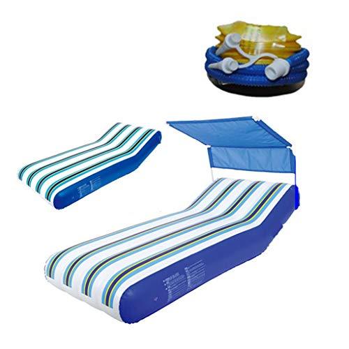 Schwimmende Reihe Aufblasbar Schwimmendes Bett Wasserstuhl Luftbett Schwimmbecken Aufblasbares Spielzeug Für Schwimmbecken Mit Einem Gewicht Von 90kg (Color : A, Size : 191 * 74CM)