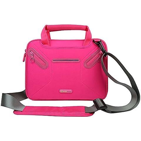 EveCase - Maletín para ordenador portable y tabletas de 10,1 pulgadas, rosa