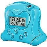 Oregon Scientific RM 313PN - Réveil avec projection de l'heure et température intérieure bleu
