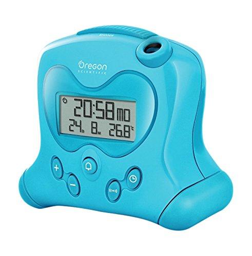Oregon Scientific RM313 Orologio Radiocontrollato con Proiezione e Allarme Sveglia, Plastica, Azzurro, 6.5x19x11 (Oregon Tipo)