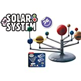 Popsugar Rotating Solar System DIY Science Kit for Kids | Paint The Planets, Watch Them Glow in Dark, Multicolor