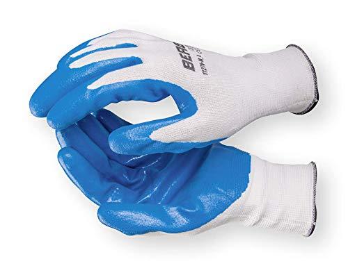 Bergin Handschuhe Nylon/Nitril für Öle und Schmierstoffe Größe 9(L) EN 388 - Öle, Schmierstoffe