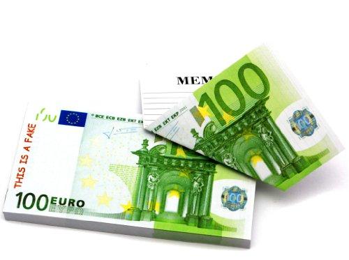 100 Euro Scheine als Notizheft Notizblock für Wichtige Notizen auf der Rückseite ! - Falschgeld