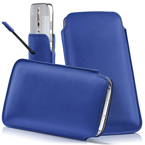 moex ZTE Nubia Red Magic | Hülle Blau Sleeve Slide Cover Ultra-Slim Schutzhülle Dünn Handyhülle für Nubia Red Magic Case Full Body Handytasche Kunst-Leder Tasche