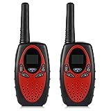 TOOGOO(R) 8 Canaux Paire de talkies walkies UHF400-470MHZ 2-Way Radio 3KM gamme interphone rouge et noir